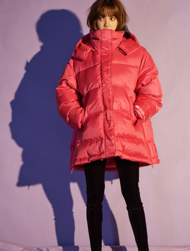 [NONAGON] A-LINE HOODED DOWN JACKET
